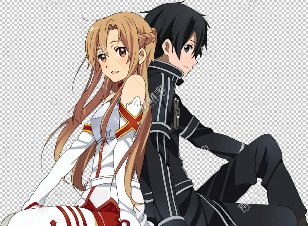 Kirito Asuna Leafa剑艺在线动漫,asuna PNG剪贴画cg图稿,黑头发,