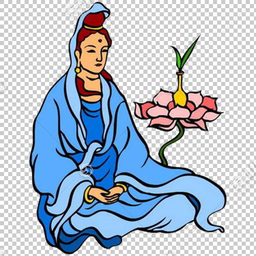 观音佛教菩萨,卡通观音PNG剪贴画卡通人物,文化,卡通武器,漫画,虚