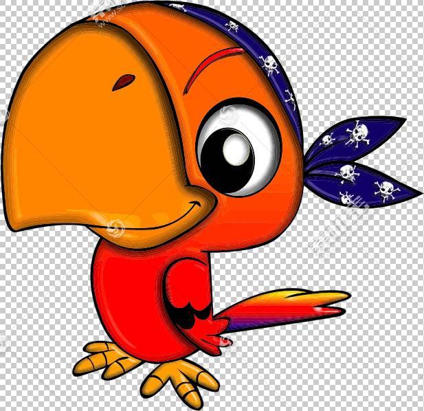 海盗鹦鹉海盗,鹦鹉的PNG剪贴画橙色,脊椎动物,版权,卡通,鸟,版税,