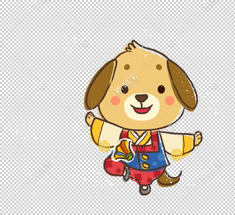 狗中国黄道带农历新年猴子,卡通狗PNG剪贴画卡通人物,哺乳动物,动