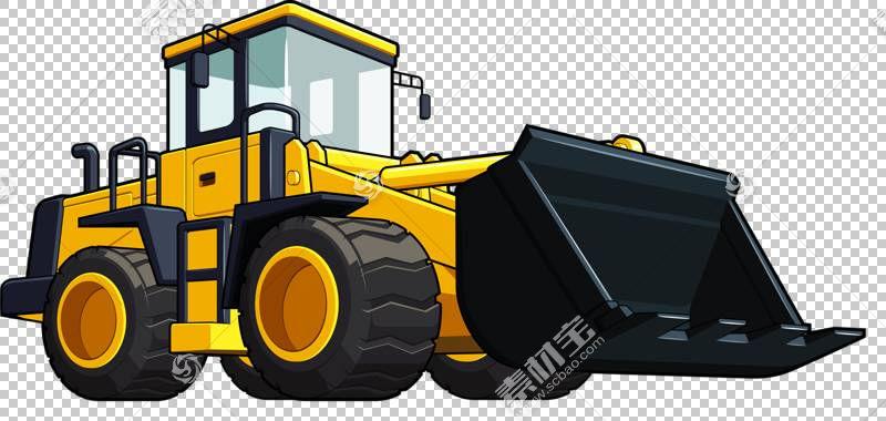 装载机重型设备挖掘机,手,彩绘推土机PNG剪贴画水彩画,画,卡车,手