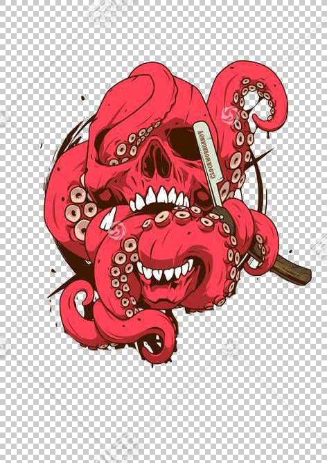 视觉艺术触手,触手怪物PNG剪贴画漫画,我们男人,嘻哈,涂鸦,虚构人