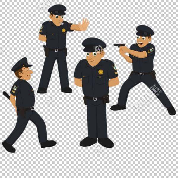 警察,攻击警察PNG剪贴画人民,卡通,警车,警察徽章,站立,庄严,交通