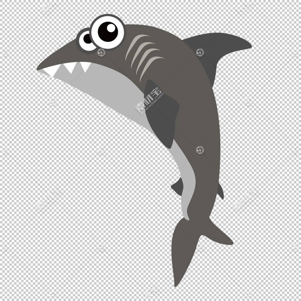 鲨鱼卡通,卡通鲨鱼PNG剪贴画卡通人物,海洋哺乳动物,哺乳动物,动