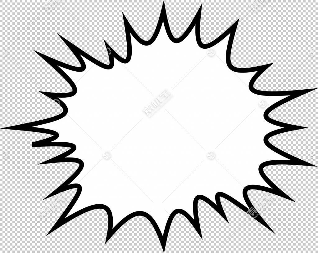 语音气球漫画漫画书卡通,黑色爆炸模式PNG剪贴画角,白色,叶,黑色