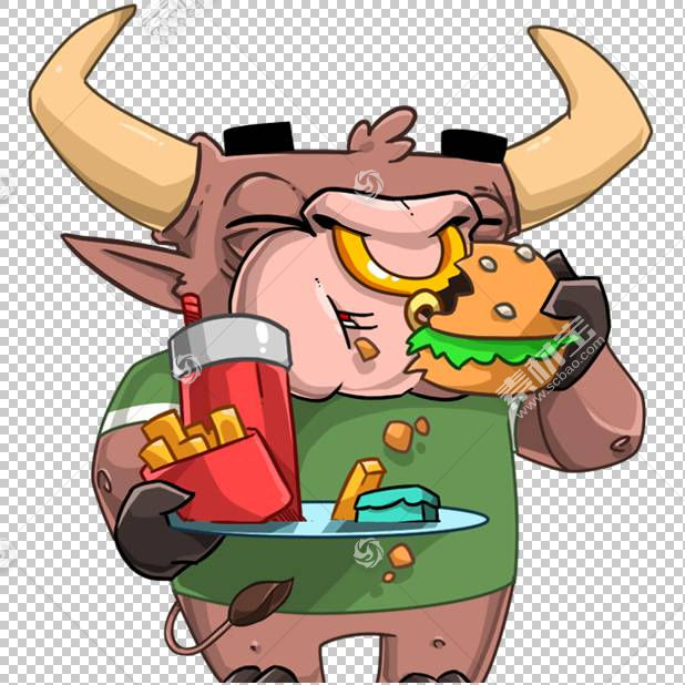 贴纸电报汉堡肯德基快餐,其他PNG剪贴画食品,其他,贴纸,卡通,虚构