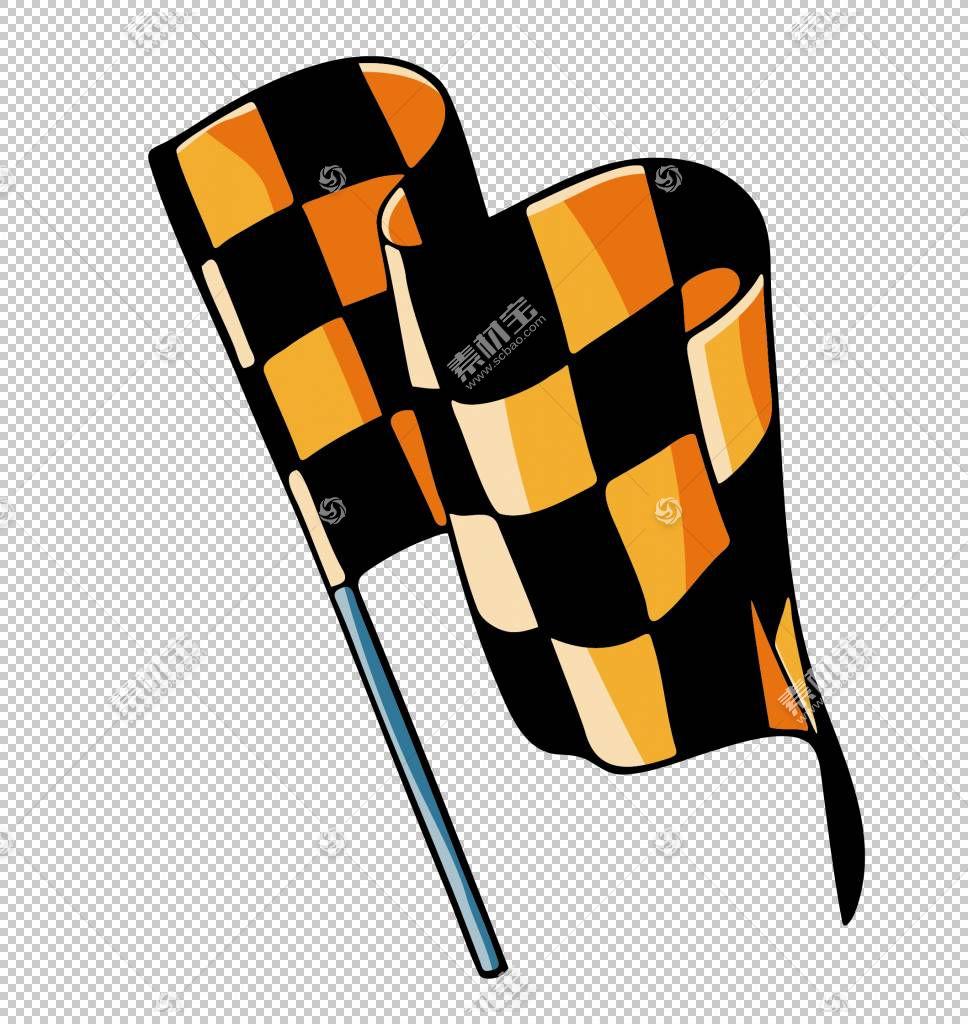 赛车旗帜,黄色赛车横幅PNG剪贴画其他,国旗,橙色,赛车,黄色鲜花,