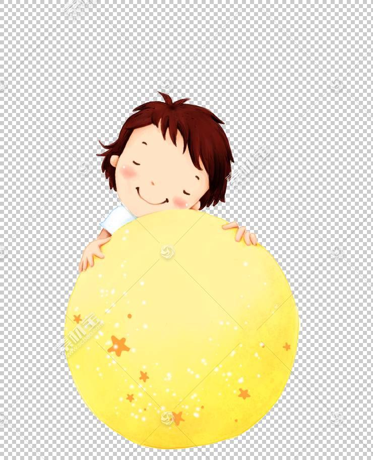 儿童卡通,梦幻男孩PNG剪贴画人,橙色,幼儿,男孩,封装的PostScript