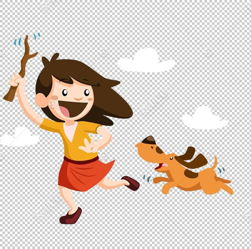 儿童游戏,与狗PNG剪贴画玩的小女孩游戏,哺乳动物,画,时尚女孩,动