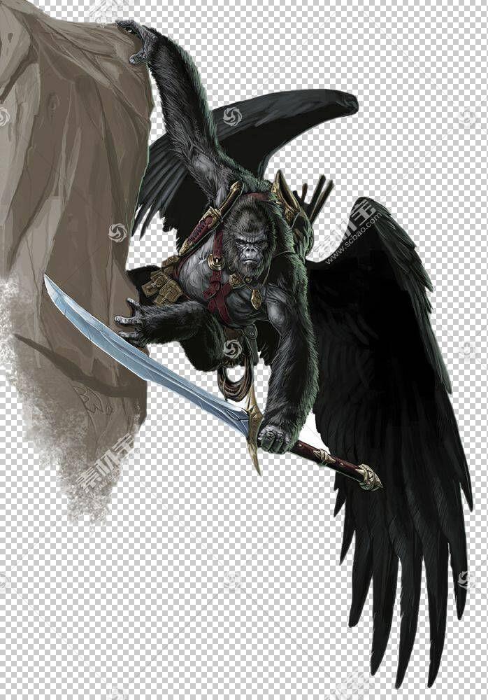 龙与地下城寻找者角色扮演游戏d20系统召唤克苏鲁暗影,飞猿战士PN
