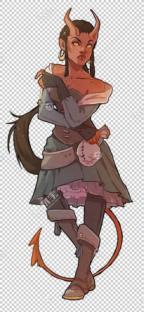 龙与地下城寻找者角色扮演游戏Tiefling Bard角色扮演游戏,男女模