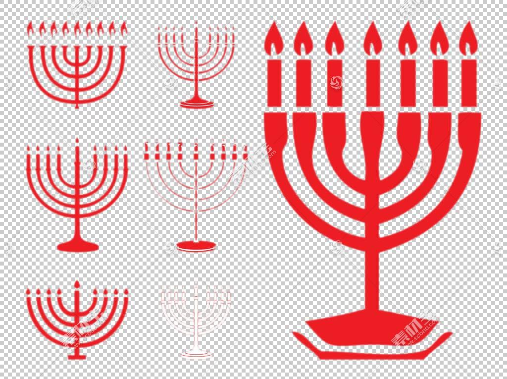 光明节Menorah犹太教,卡通红色蜡烛PNG剪贴画卡通人物,酒杯,蜡烛,
