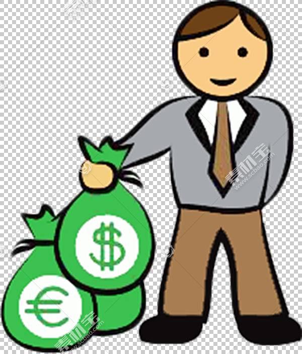 金钱袋子股票摄影,手提金钱袋子动画片人PNG clipart卡通人物,付