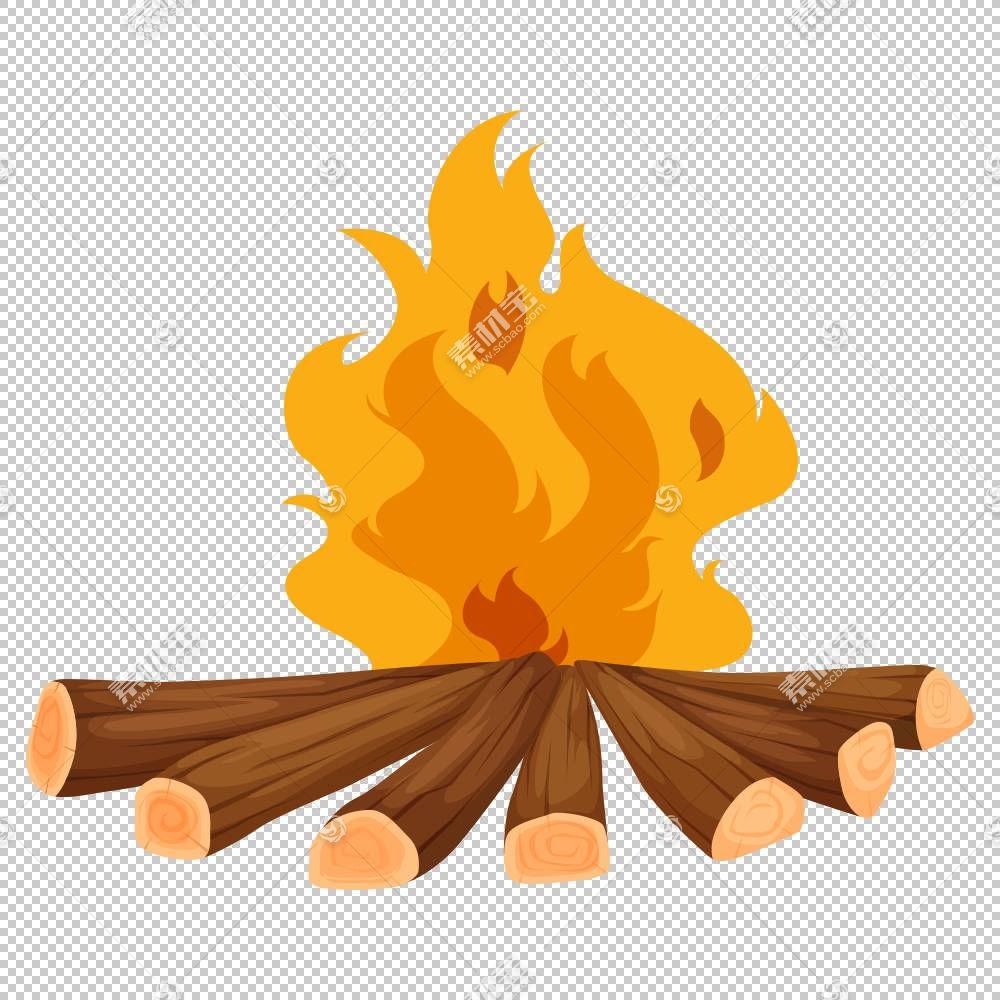 营火篝火,卡通火焰PNG剪贴画卡通人物,橙色,电脑壁纸,漫画,木材,