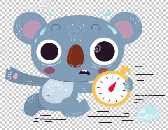 考拉熊卡通,考拉卡通闹钟模式PNG剪贴画卡通人物,哺乳动物,动物,