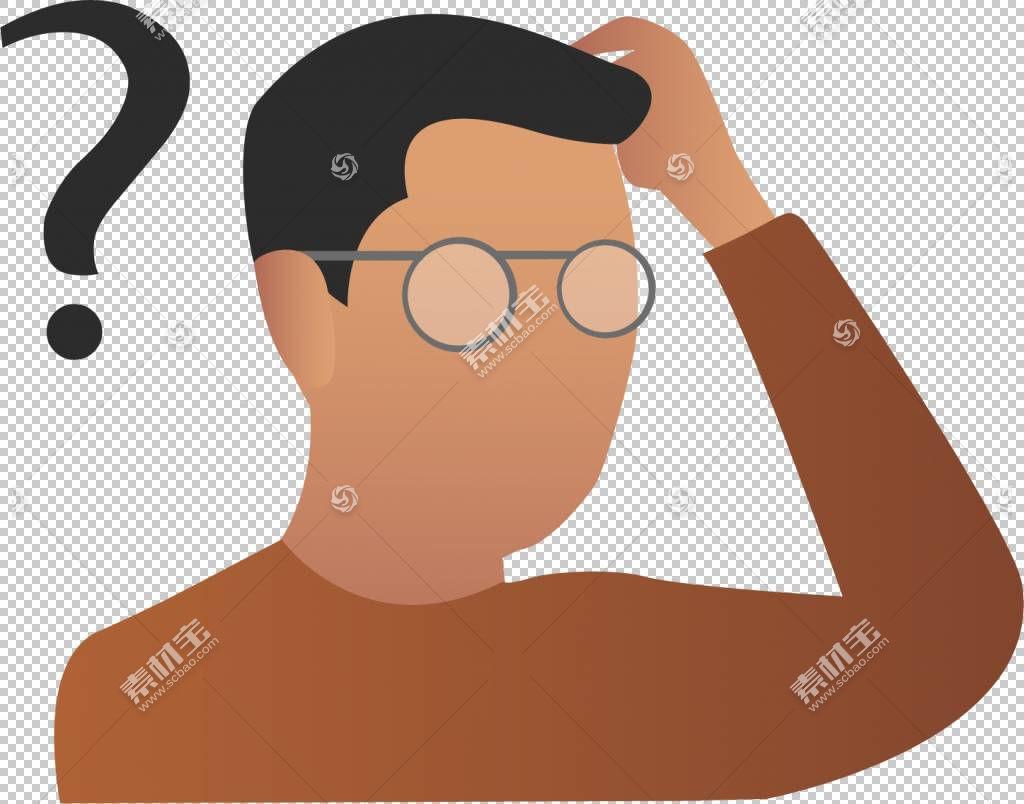 问号,男子问号PNG剪贴画手,人,业务人,头,男人剪影,卡通,封装的Po