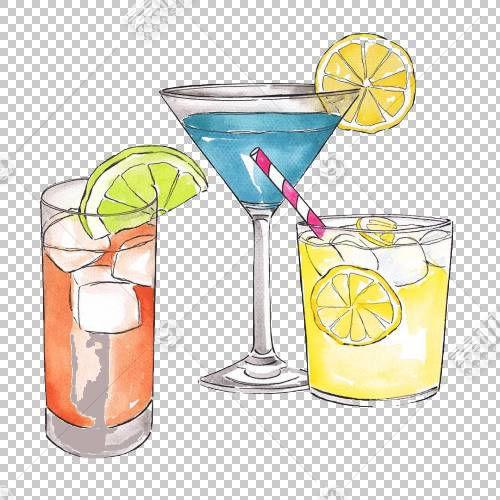 蔓越莓汁鸡尾酒装饰柠檬水,卡通柠檬水PNG剪贴画卡通人物,玻璃,卡