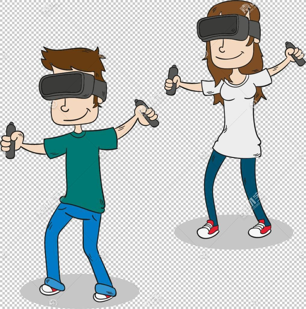 虚拟现实,体感技术产品体验PNG剪贴画电子产品,儿童,实验,幼儿,男