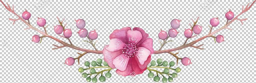 博客,手绘装饰花PNG剪贴画水彩绘画,插花,分支,生日快乐矢量图像,