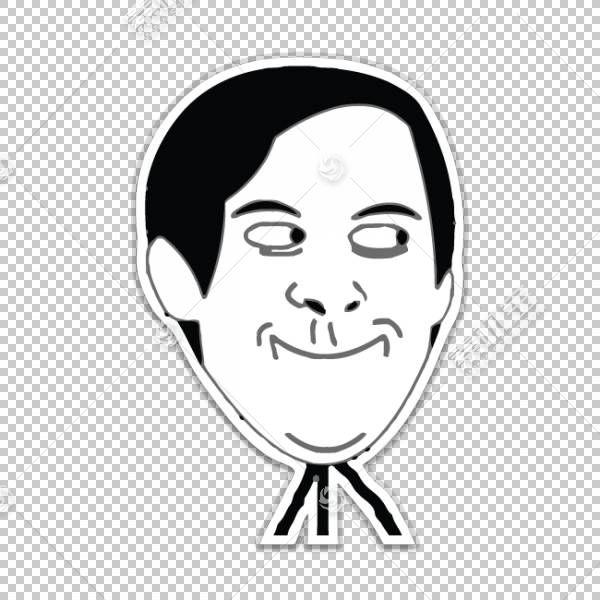 蜘蛛,男人托比马奎尔互联网meme愤怒漫画Trollface,蜘蛛侠脸部的P