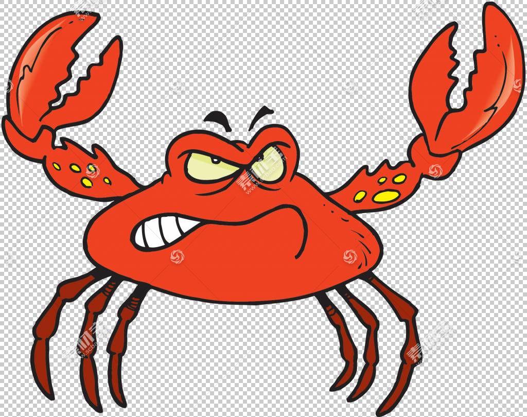 螃蟹卡通,卡通螃蟹PNG剪贴画卡通人物,食品,甲壳动物,动物,海鲜,