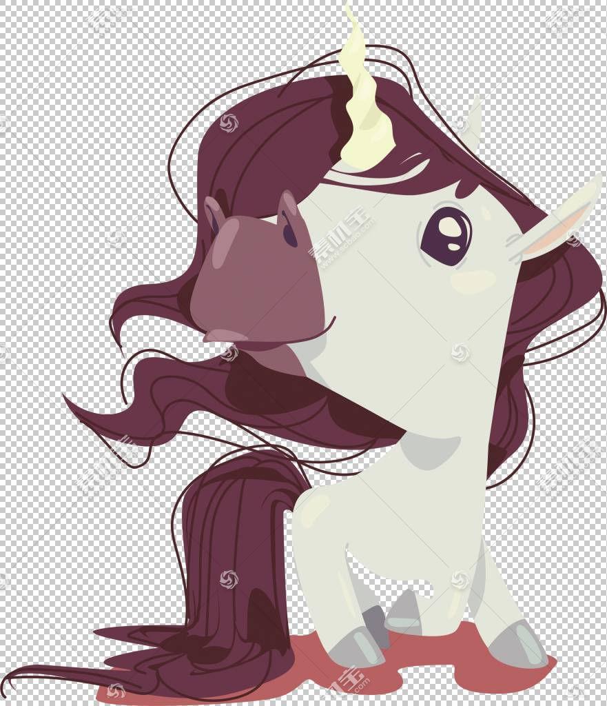 马欧几里得独角兽婴儿,独角兽与流动的头发PNG剪贴画紫色,白色,儿