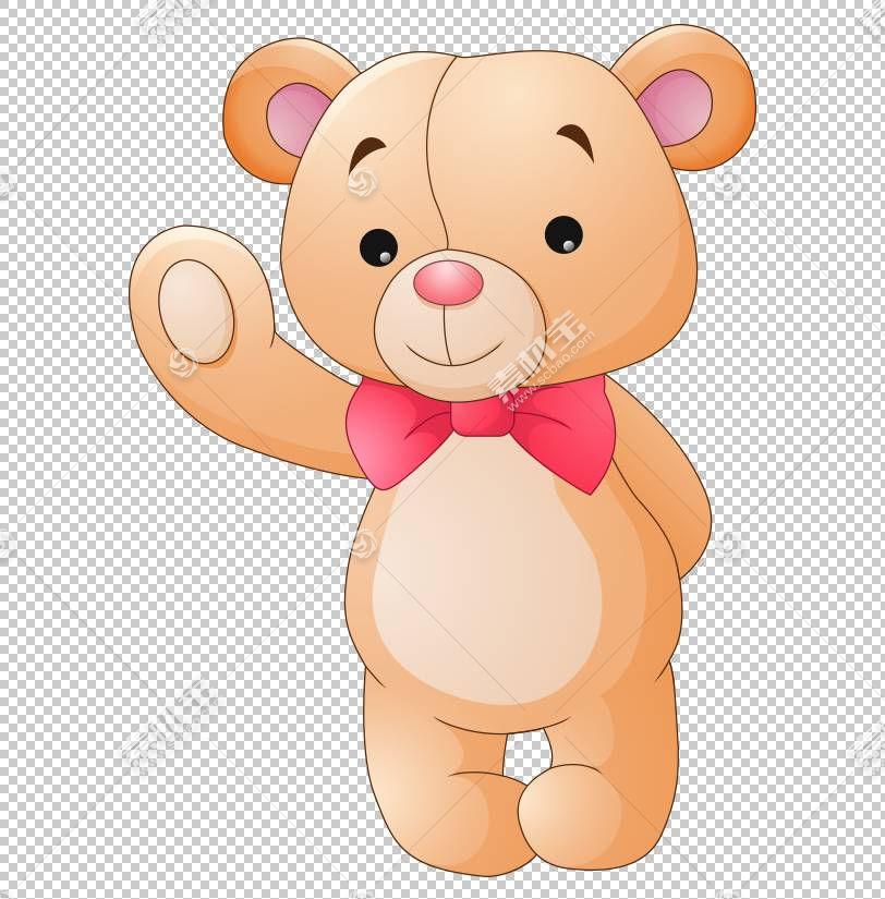 泰迪熊卡通毛绒玩具绘图,手绘卡通可爱泰迪熊PNG剪贴画水彩画,动