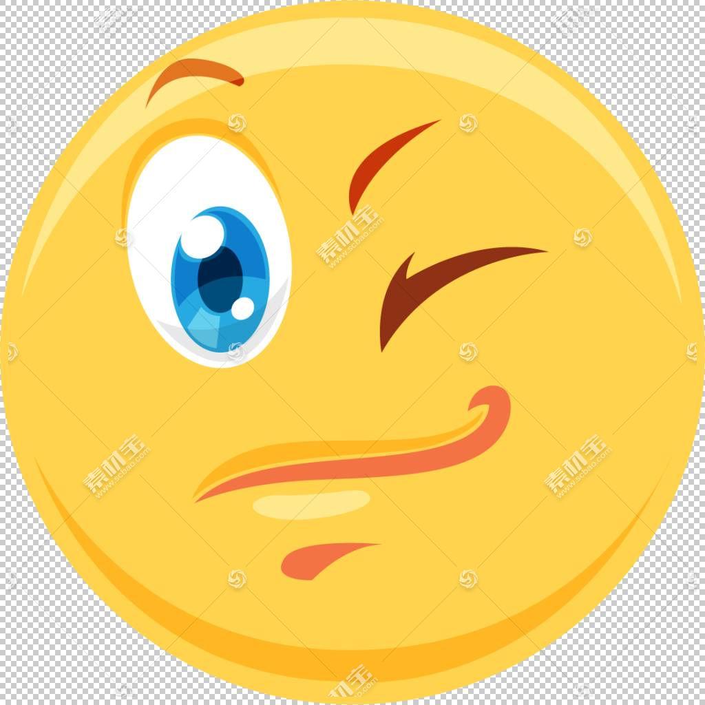 眨眼,Wink闪烁PNG剪贴画杂项,橙色,笑脸,卡通,封装的PostScript,