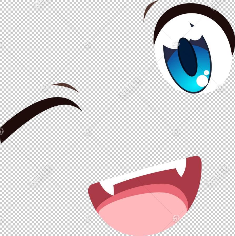 眼睛微笑动漫嘴,嘴微笑PNG剪贴画人,电脑壁纸,卡通,图释,嘴微笑,