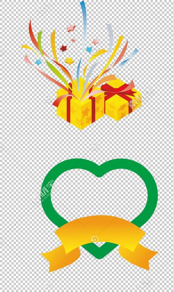 礼品盒包装和标签,彩色卡通丝带PNG剪贴画卡通人物,功能区,颜色飞