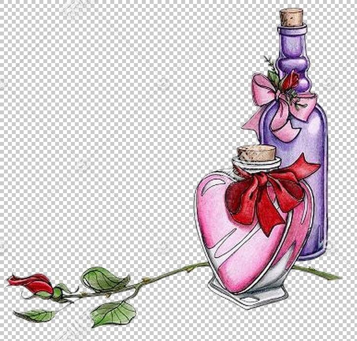 祝你生日快乐Augur礼品,香水瓶PNG剪贴画杂项,愿望,画,手,香水,心