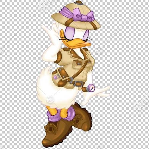 米妮唐老鸭雏菊鸭迪斯尼动物王国米老鼠,DUCK PNG剪贴画紫色,卡通