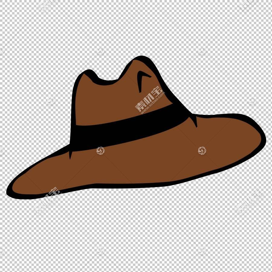 牛仔帽豆豆礼帽,牛仔卡通的PNG剪贴画帽子,针织帽,软呢帽,牛仔卡