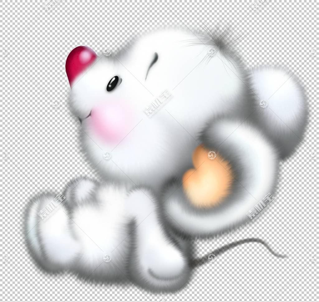 米老鼠Sniffles Topo Gigio小姐比安卡,可爱的白老鼠卡通,白色鼠
