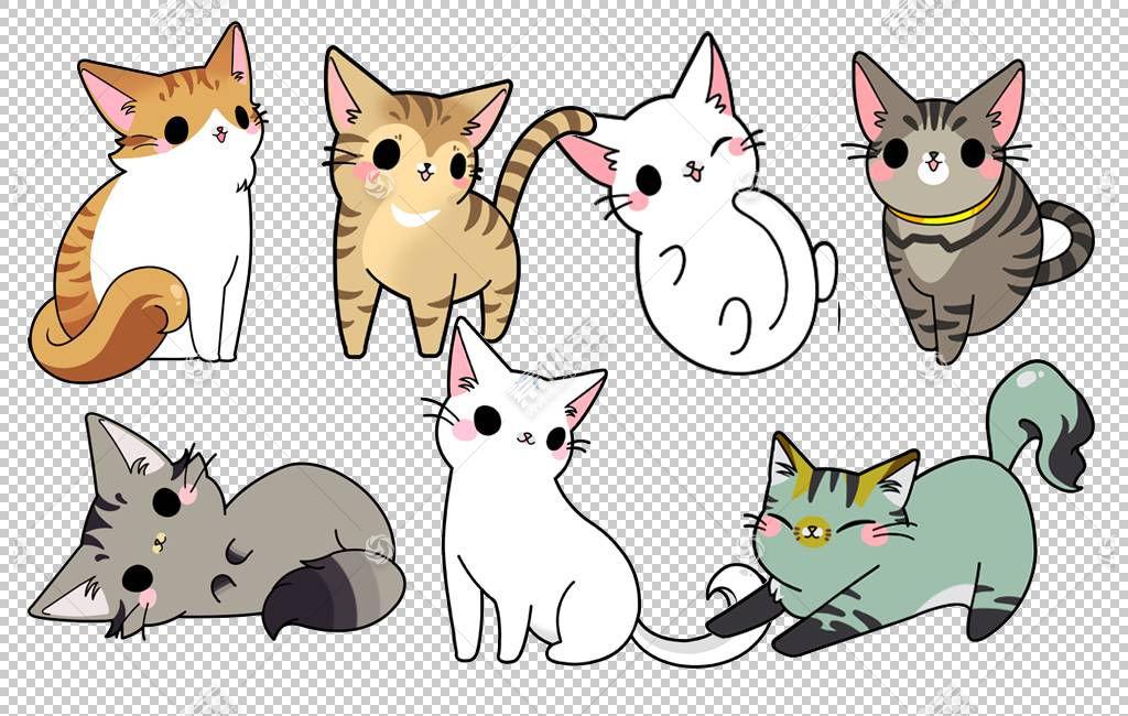 猫卡通,手绘猫咪家庭PNG剪贴画漫画,哺乳动物,画,猫像哺乳动物,食