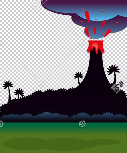 恐龙欧几里得,火山爆发PNG剪贴画电脑壁纸,生日快乐矢量图像,卡通