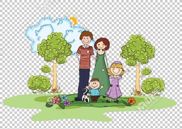 家庭孩子,男人PNG剪贴画的幸福家庭人民,生日快乐矢量图像,草,男