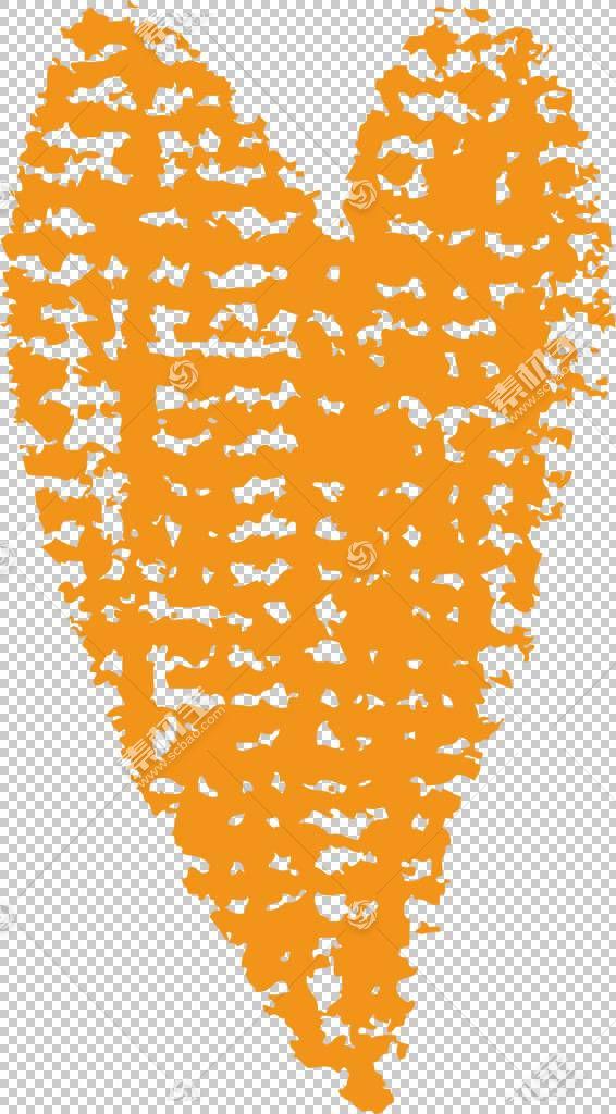 人行道粉笔钢笔画笔,点状心PNG剪贴画其他,橙色,心脏,对称性,心,