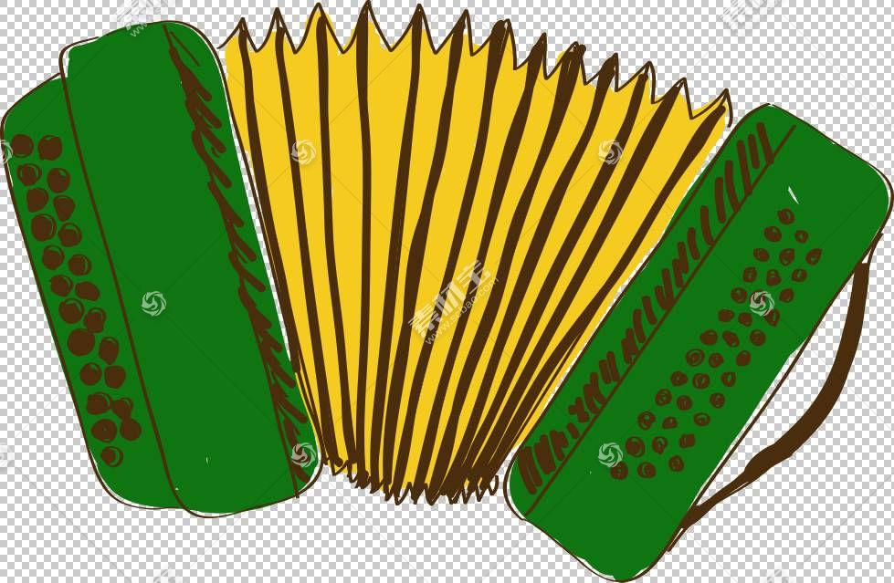 全音阶按钮手风琴Drawing Cartoon,手绘卡通手风琴PNG剪贴画水彩