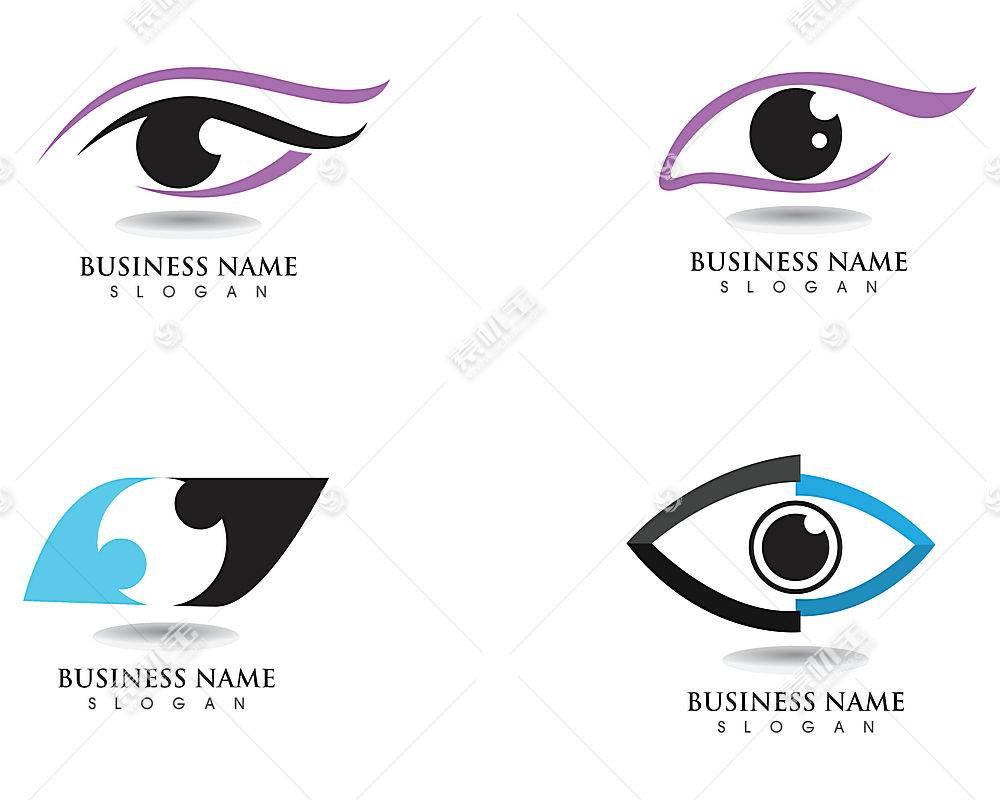 四款眼睛形象创意LOGO设计