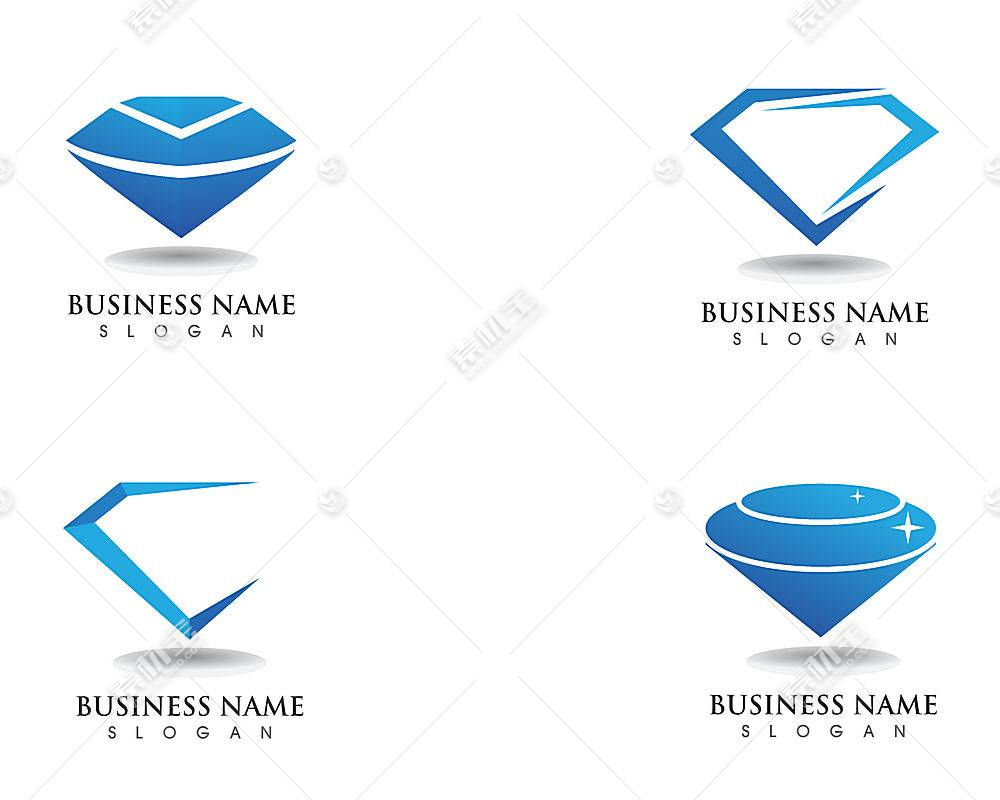 四款钻石形象创意LOGO设计