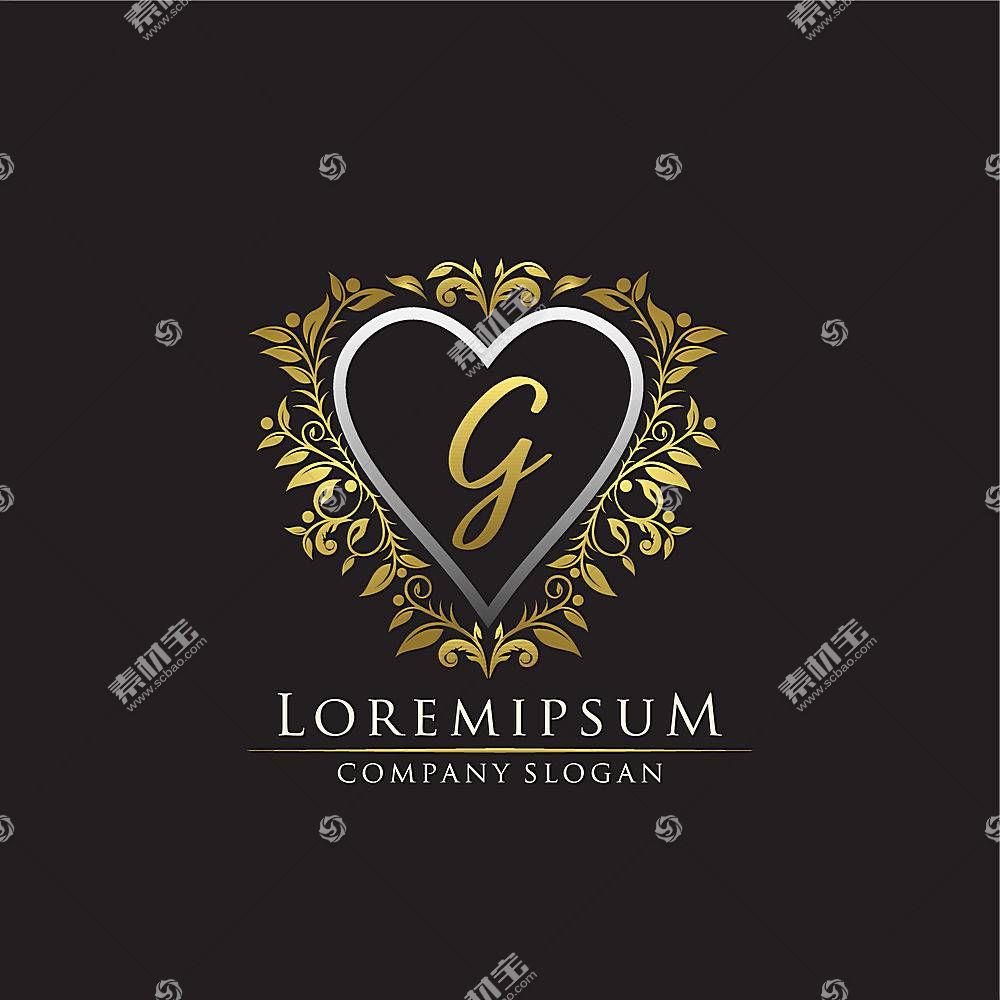 欧式金色花纹形象创意LOGO设计