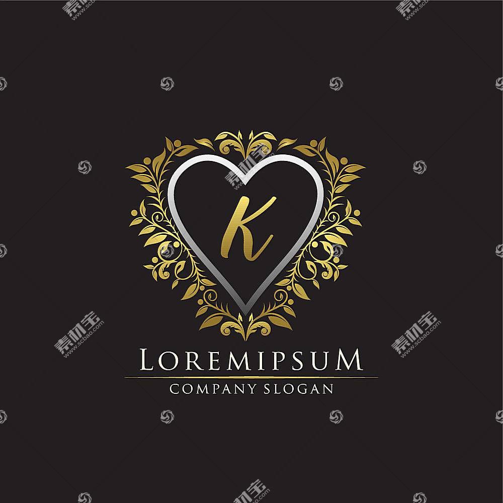 欧式金色字母形象创意LOGO设计