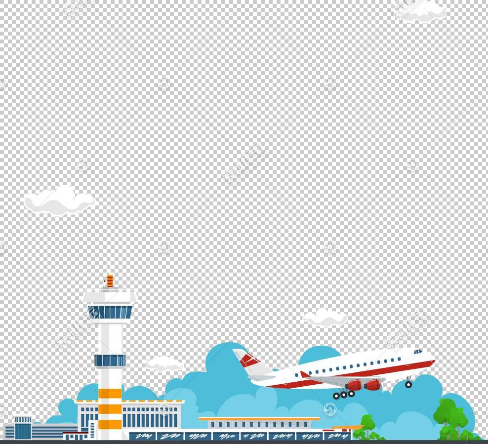 飞机图形设计,飞机和控制塔PNG剪贴画蓝色,文本,计算机壁纸,生日