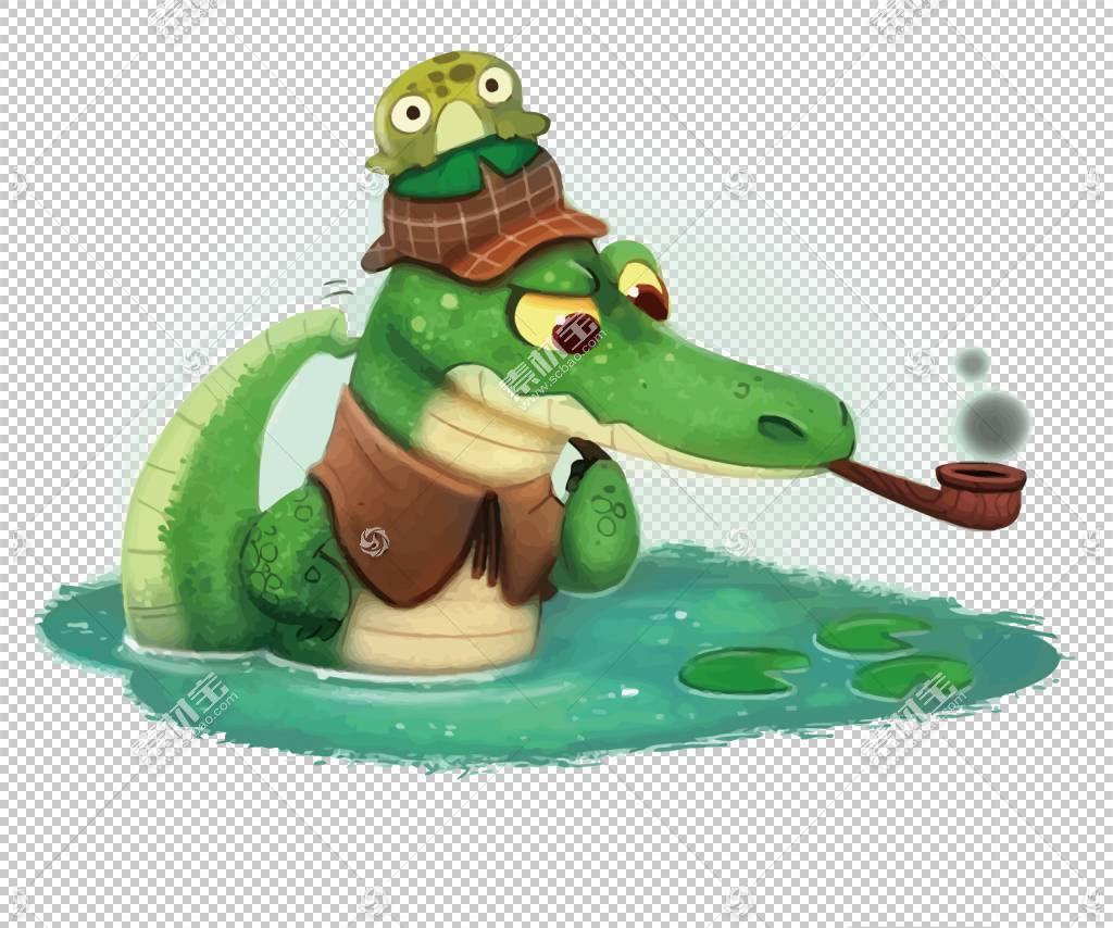 鳄鱼侦探,鳄鱼侦探PNG剪贴画png材料,动物,生日快乐矢量图像,卡通