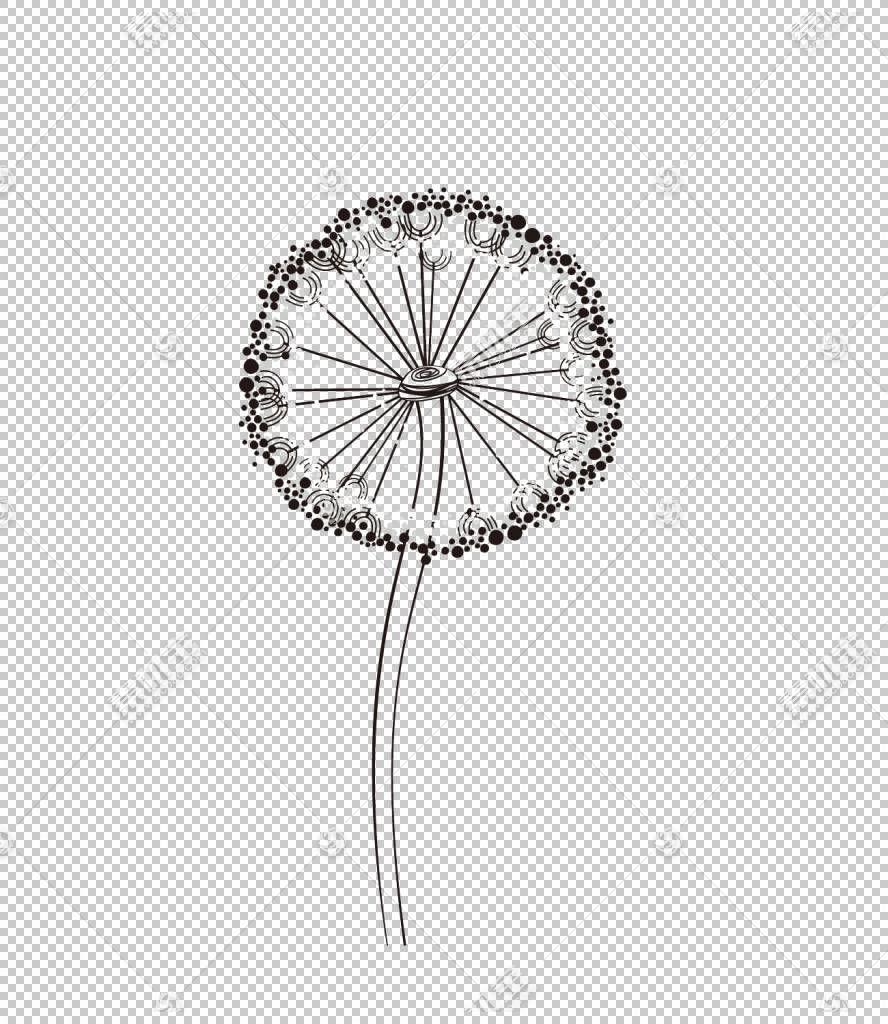 常见的蒲公英,蒲公英PNG剪贴画白色,卡通,材料,鲜花,蒲公英花,手