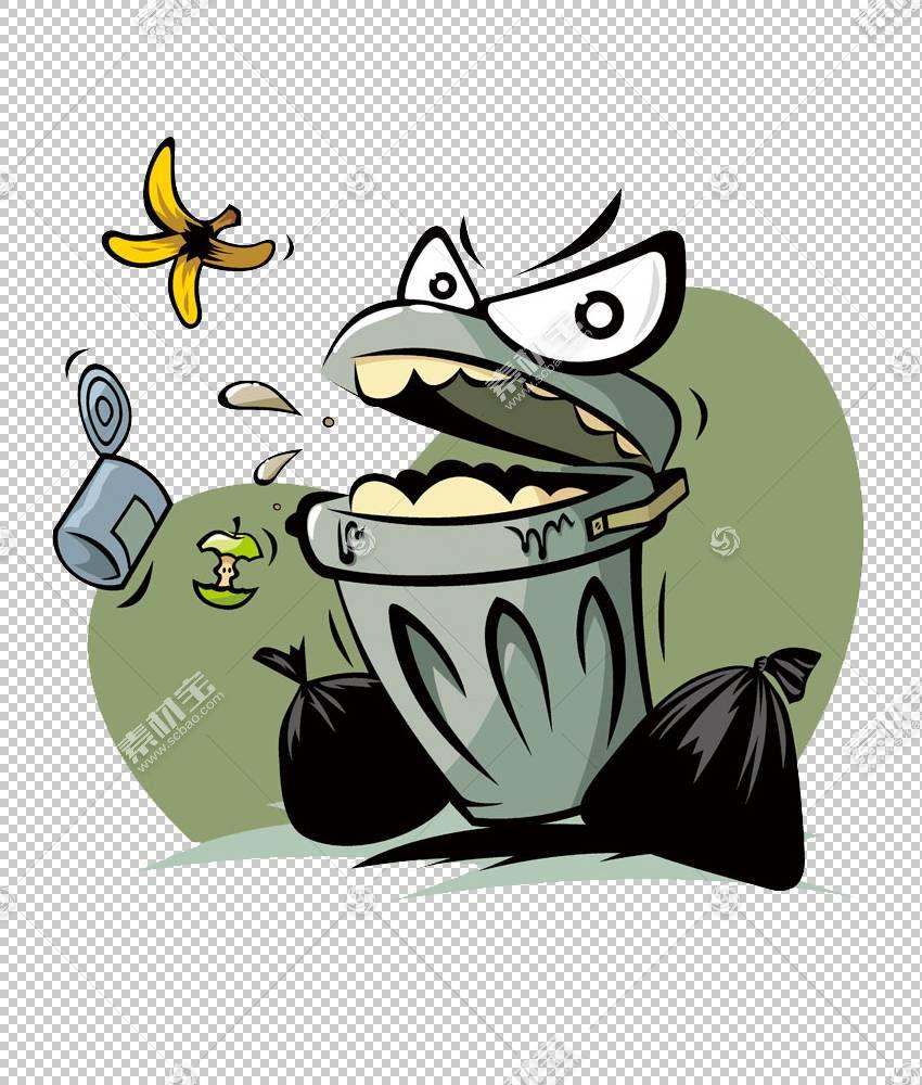 废纸卡通,垃圾桶可以张开嘴巴材料PNG剪贴画废物,脊椎动物,葡萄酒