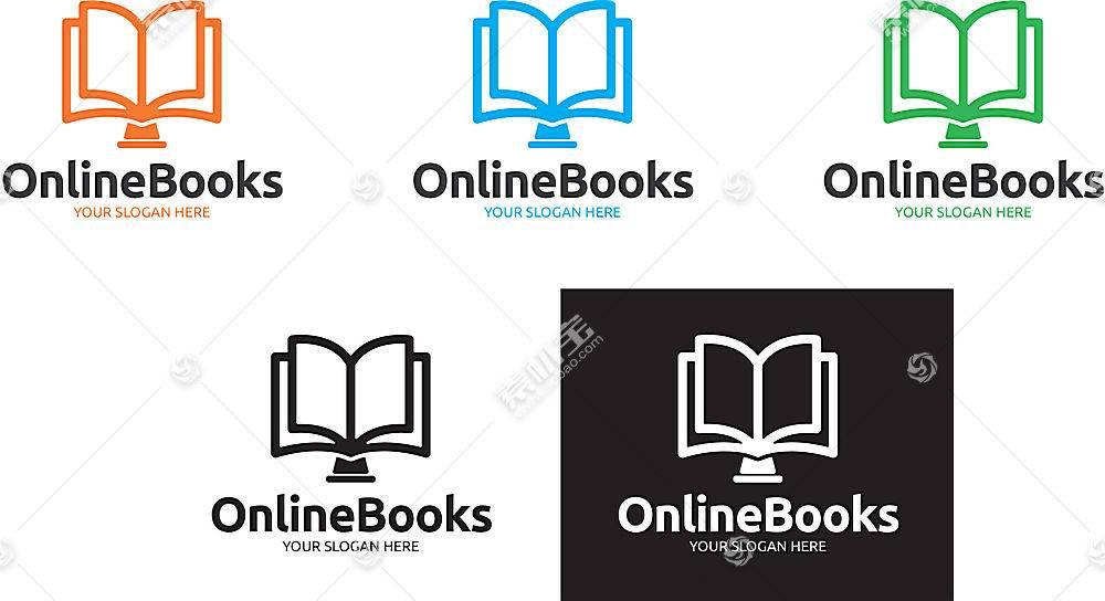 书籍读书形象创意LOGO设计