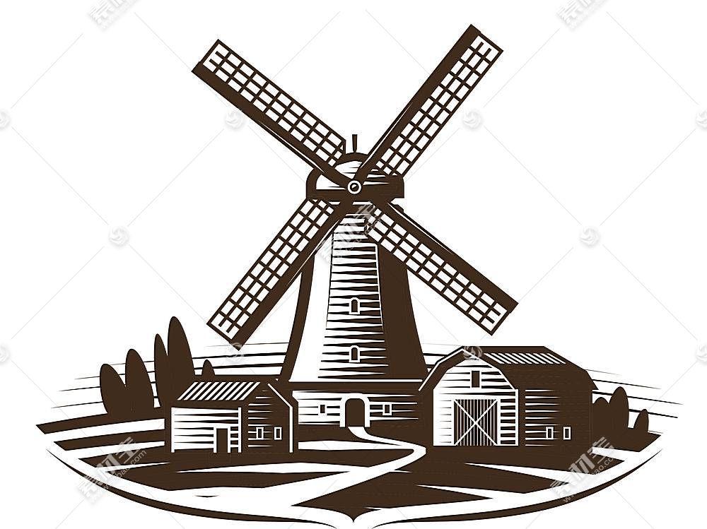 郊区风车形象创意LOGO设计