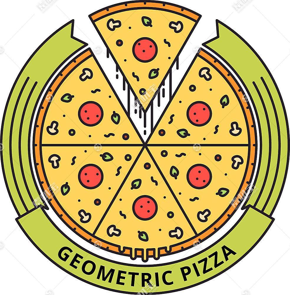 个性披萨形象创意LOGO设计